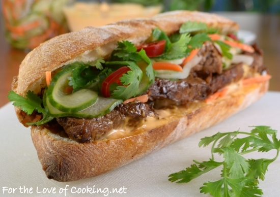 Banh Mi Sandwich with Lemongrass Pork | For the Love of Cooking