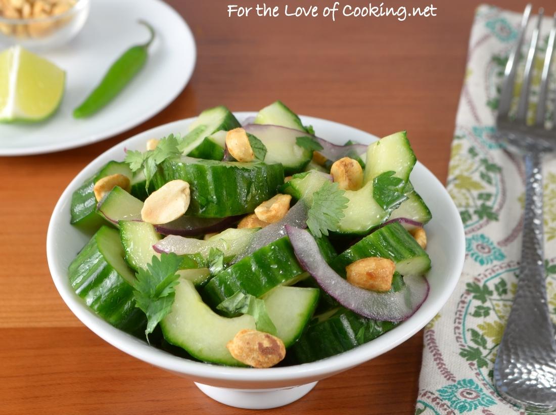 thai cucumber peanut salad