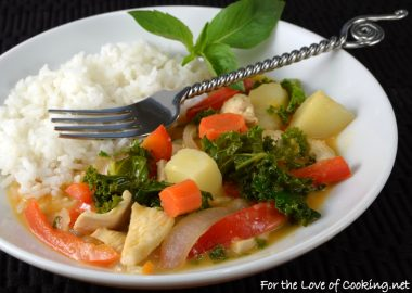 Thai Red Curry with Chicken and Vegetables