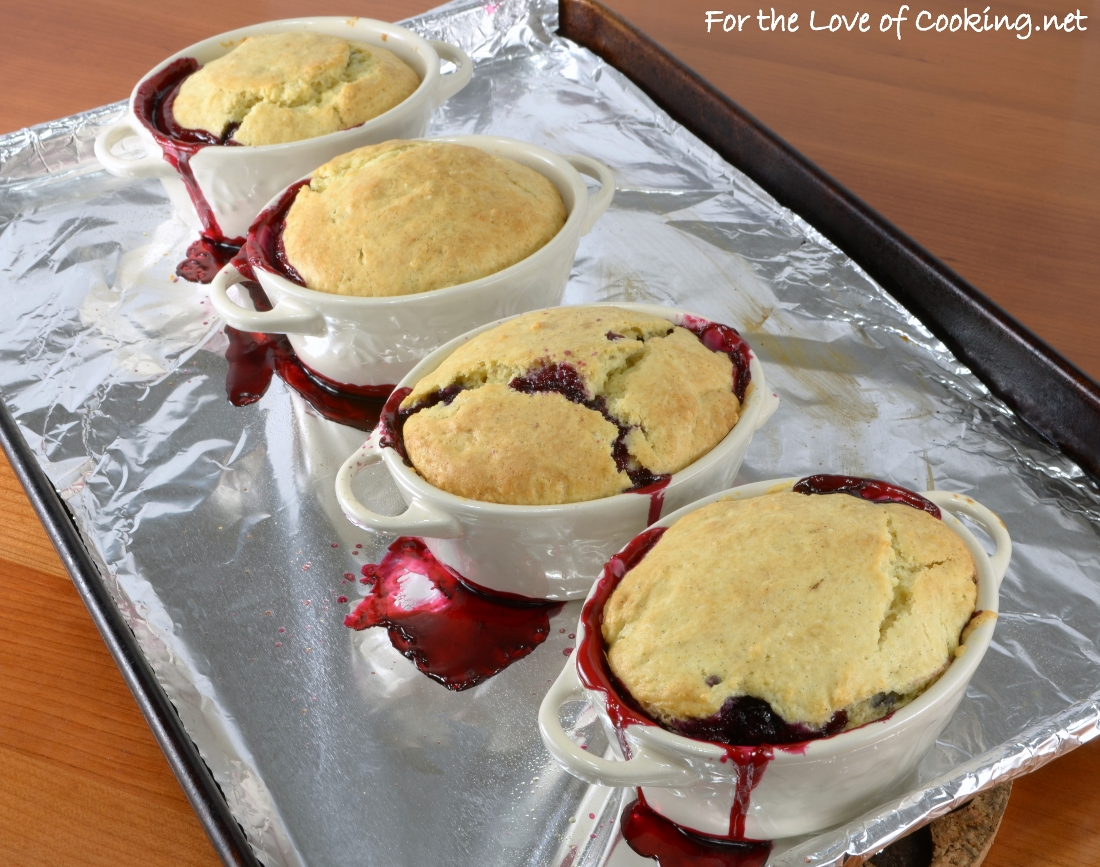 Mini Blackberry Cobbler