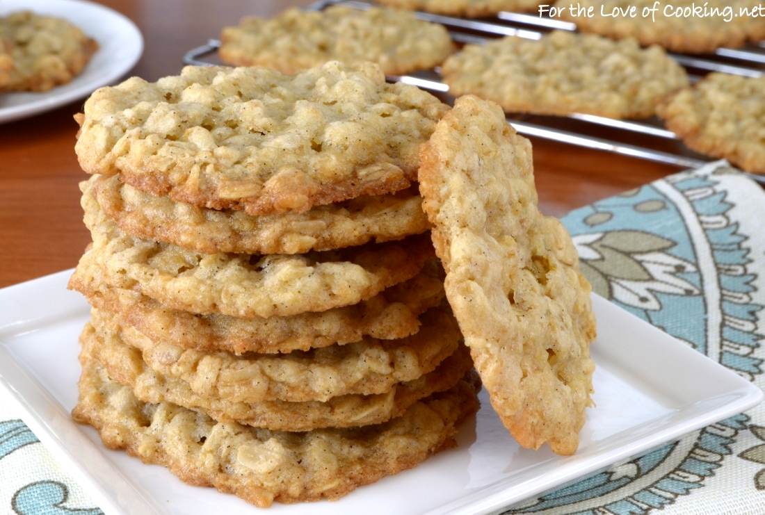 Thin and Crispy Oatmeal Cookies | For the Love of Cooking