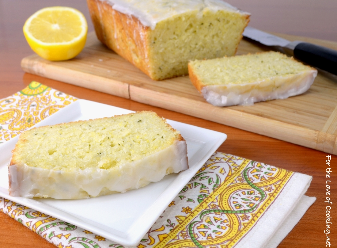 Lemon zucchini bread with lemon glaze for the love of cooking lemon zucchini bread with lemon glaze forumfinder Image collections