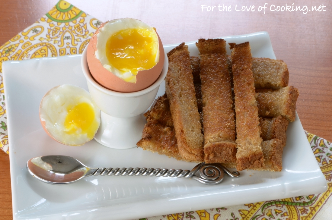"Soft Boiled Egg with Buttery Toast ""Soldiers"""
