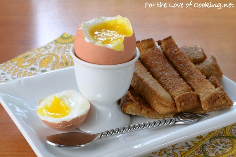 """Soft Boiled Egg with Buttery Toast """"Soldiers"""""""