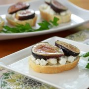 Roasted Fig Crostini with Goat Cheese and Honey