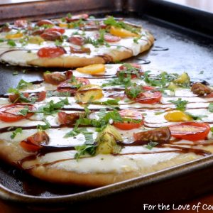 Caprese Flatbread Pizza with Balsamic Glaze