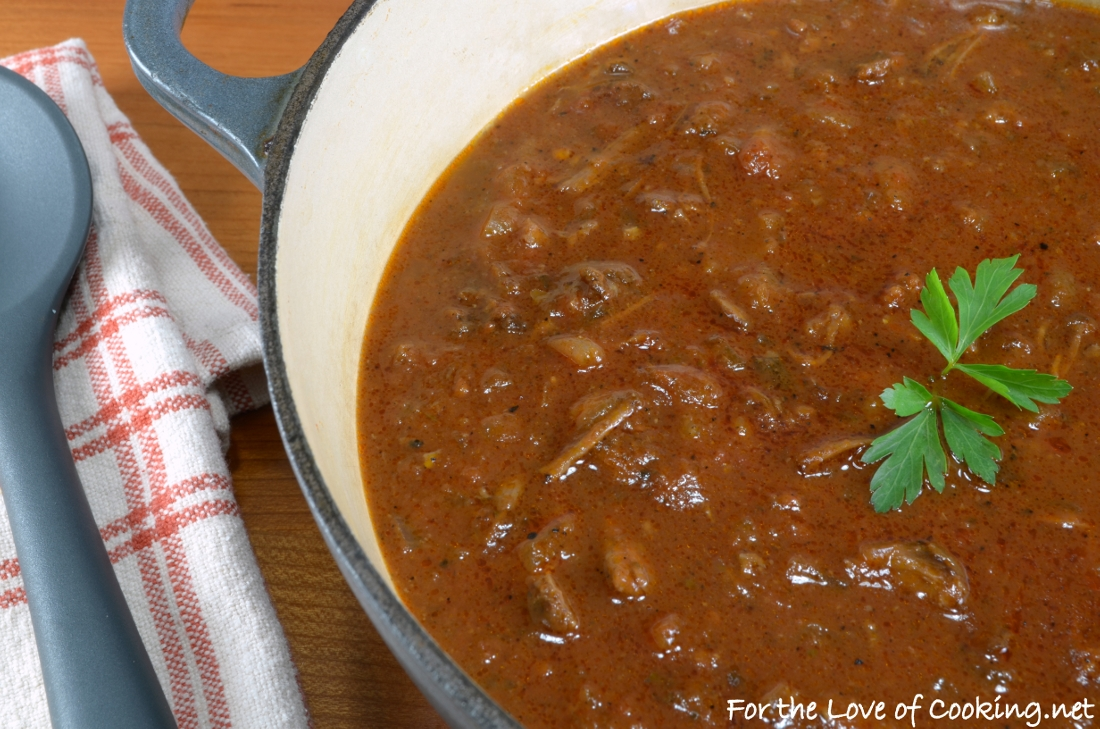 Rustic Slow-Simmered Tomato Sauce with Meat