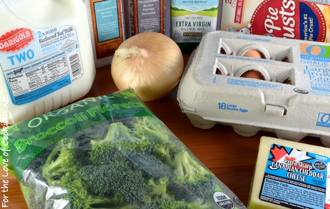Broccoli, Extra Sharp Cheddar, and Bacon Quiche