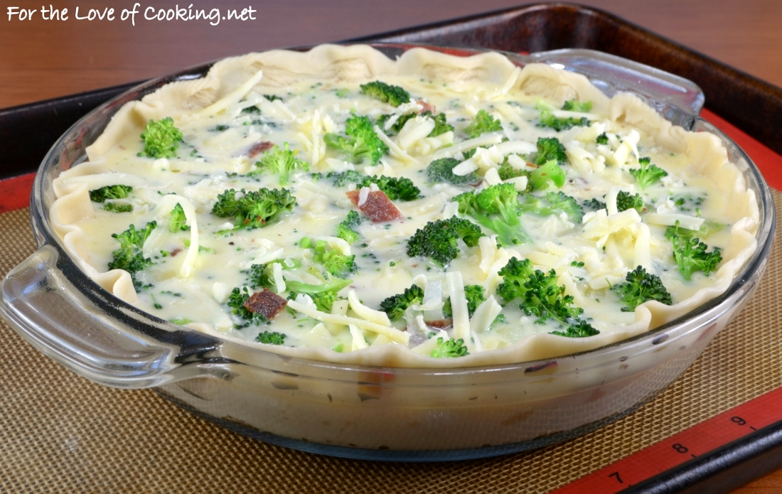Broccoli extra sharp cheddar and bacon quiche for the for Quiche not setting