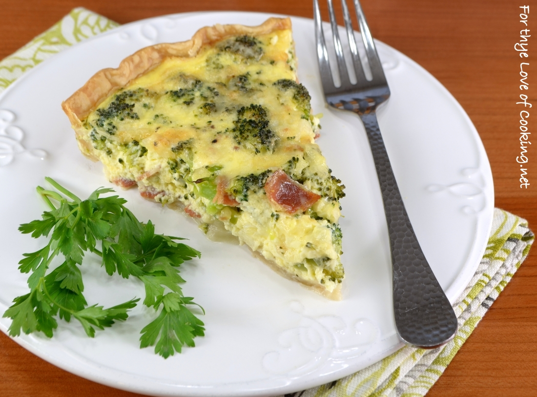 Broccoli, Extra Sharp Cheddar, and Bacon Quiche | For the ...