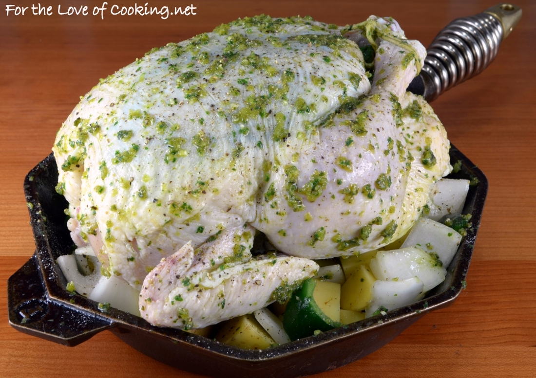 Poblano, Cilantro and Lime Roast Chicken