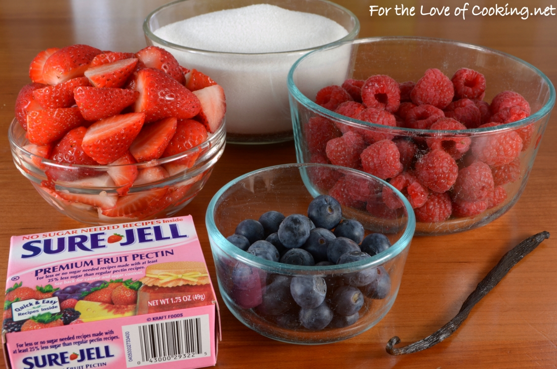 Triple Berry Vanilla Bean Freezer Jam