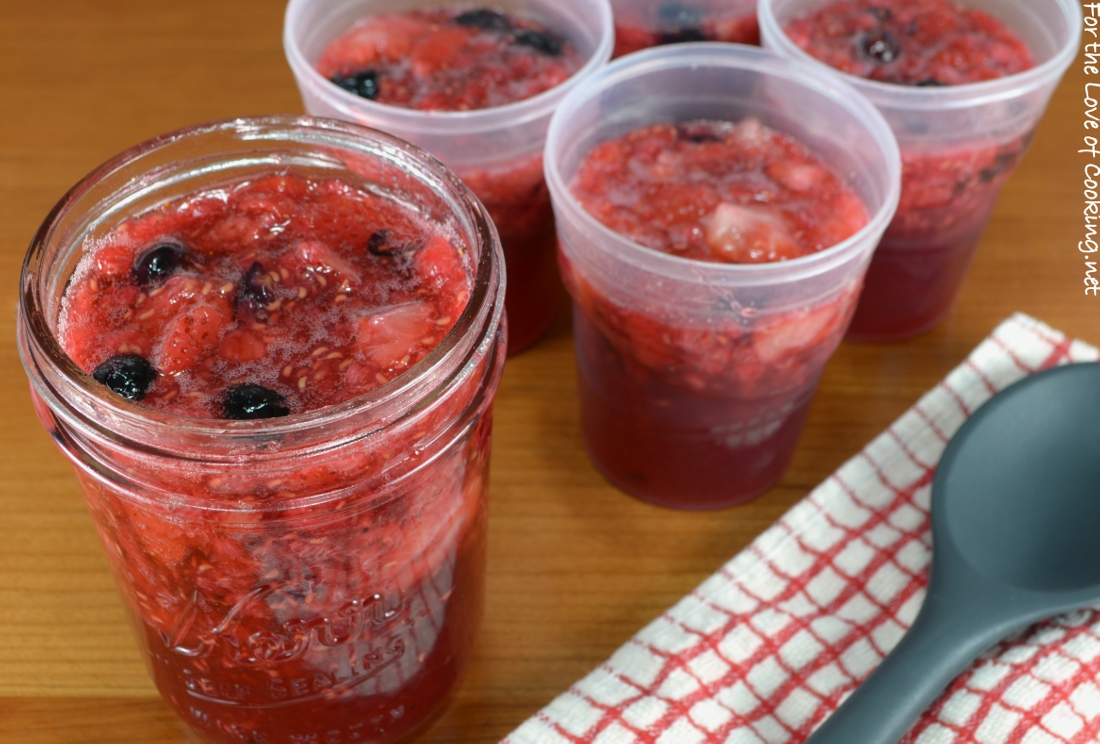 Triple Berry Vanilla Bean Freezer Jam
