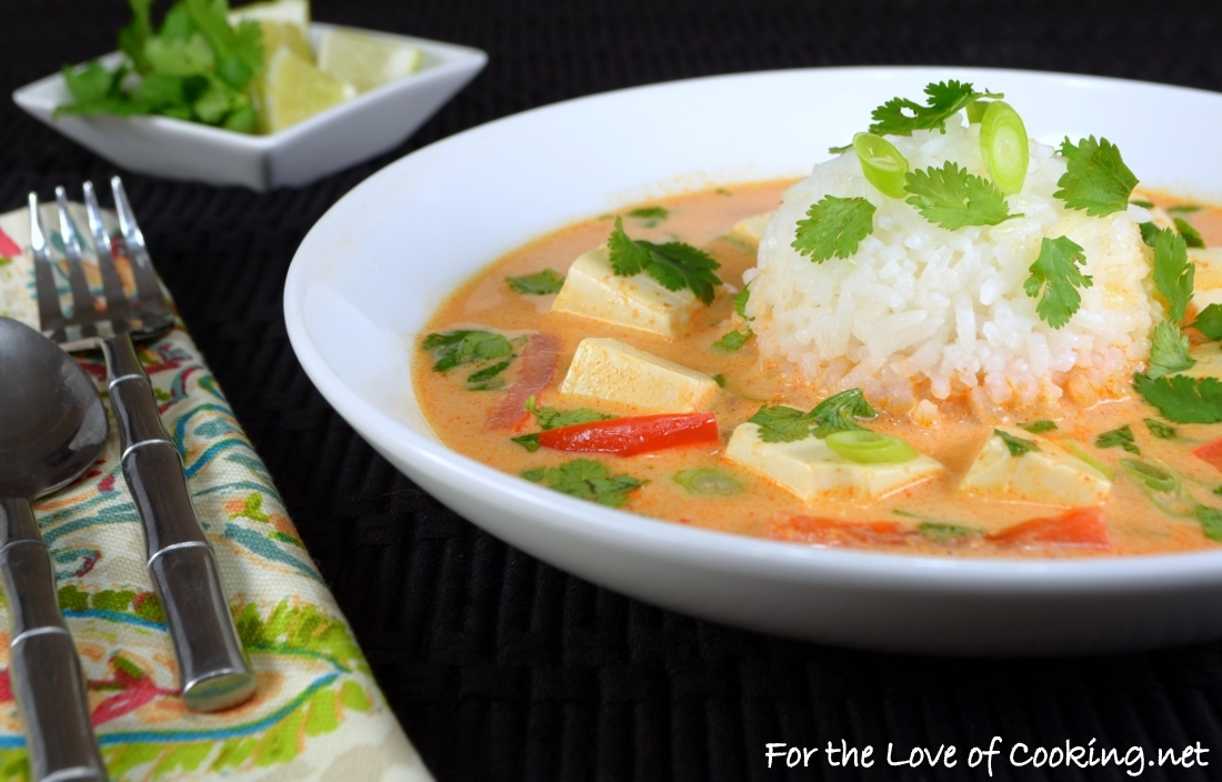 Coconut-Poached Tofu with Lemongrass and Red Curry