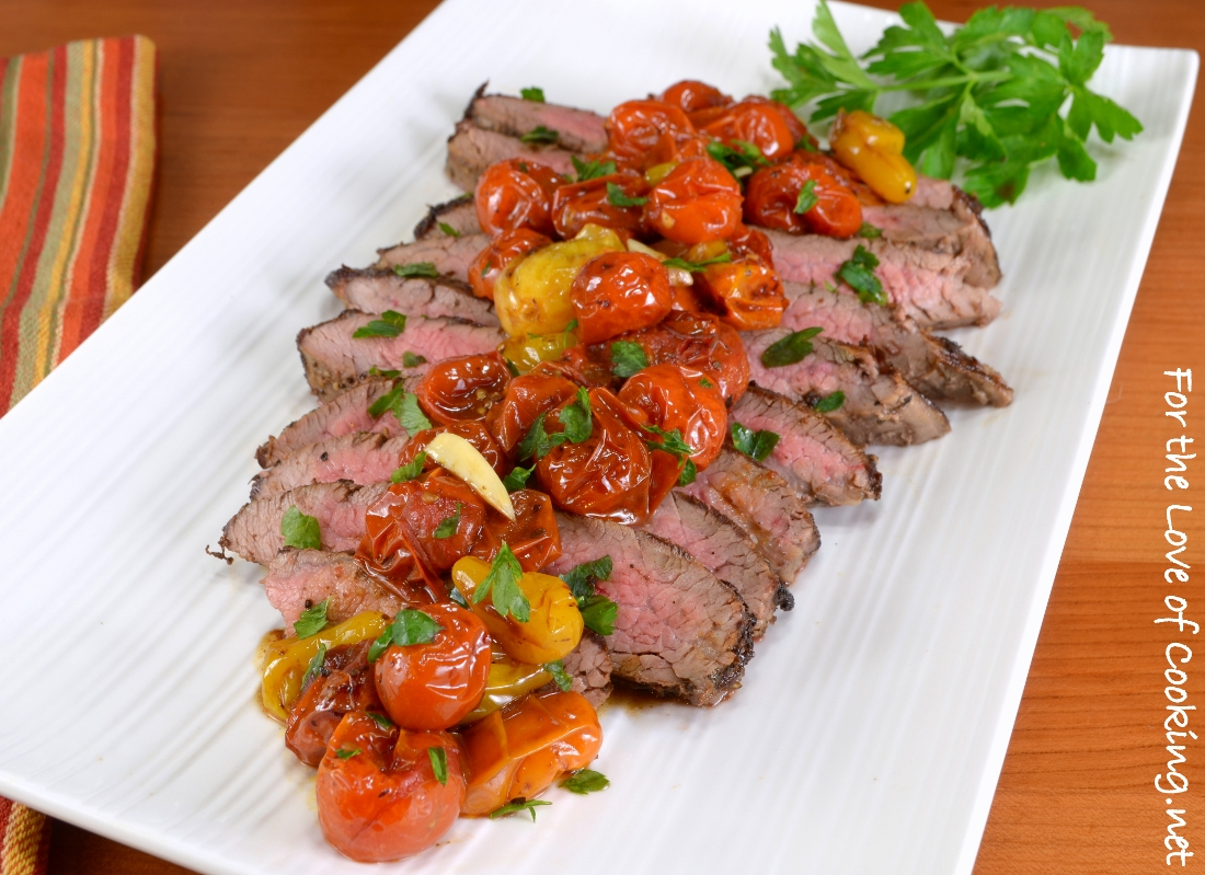 Italian Flank Steak with Balsamic Roasted Tomatoes