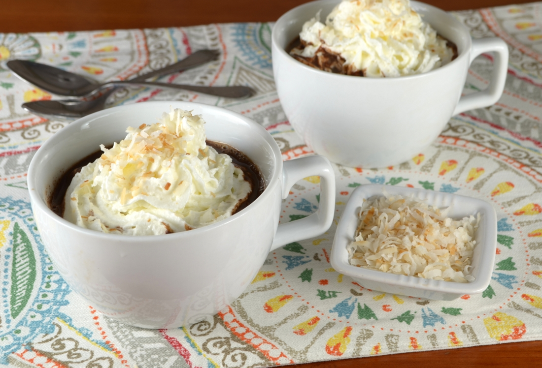 Coconut Hot Chocolate | For the Love of Cooking