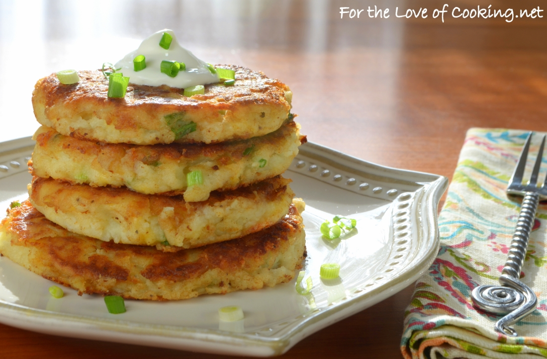 Cheesy Mashed Potato Pancakes | For the Love of Cooking