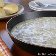Sausage Gravy with Biscuits