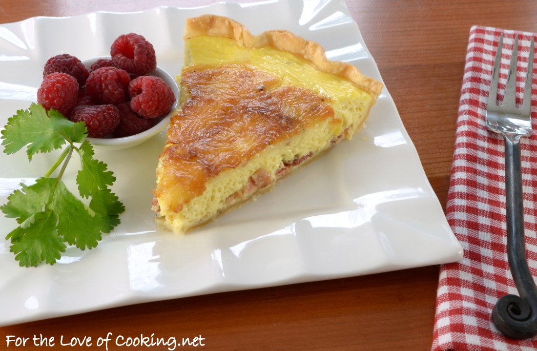 Brie and Bacon Quiche | For the Love of Cooking
