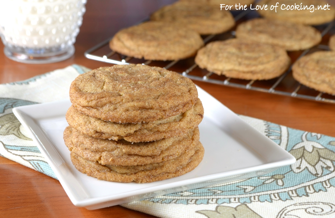 Maple Snickerdoodles | For the Love of Cooking