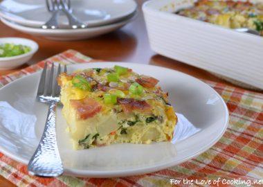 Bacon, Potato, Mushroom and Egg Casserole