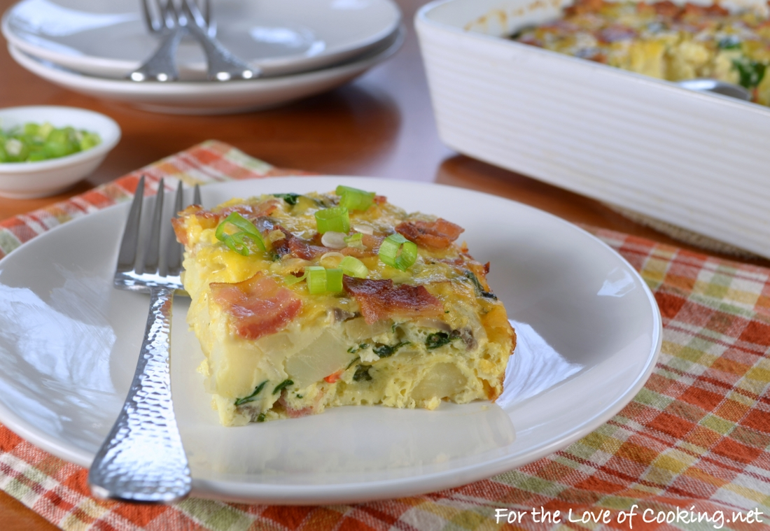 Bacon, Potato, Mushroom and Egg Casserole