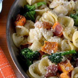 Orecchiette Pasta with Bacon, Butternut Squash, and Broccoli