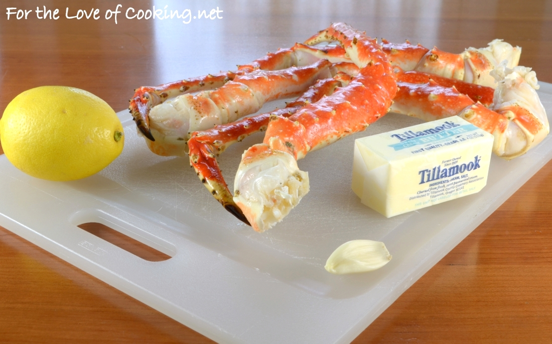 Steamed King Crab Legs With Garlic Butter And Lemon For The Love