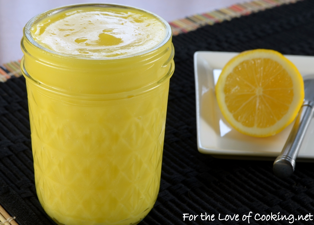 Meyer Lemon Curd | For the Love of Cooking
