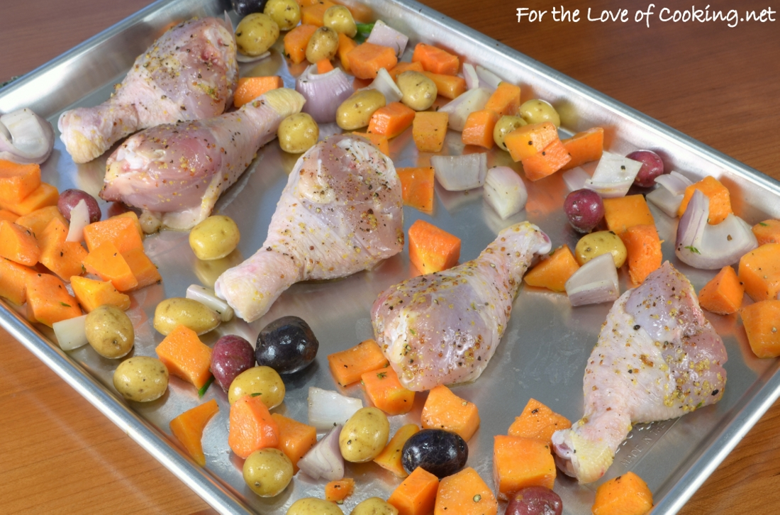 Sheet Pan Maple-Mustard Roasted Chicken