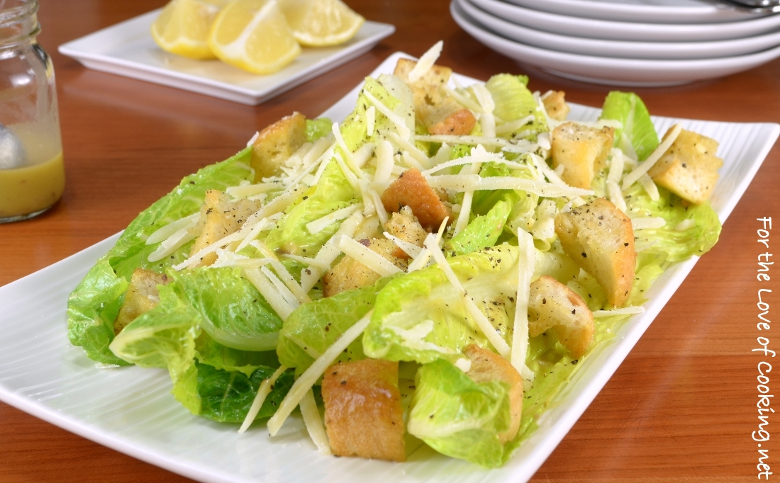 classic caesar salad for the love of cooking. Black Bedroom Furniture Sets. Home Design Ideas