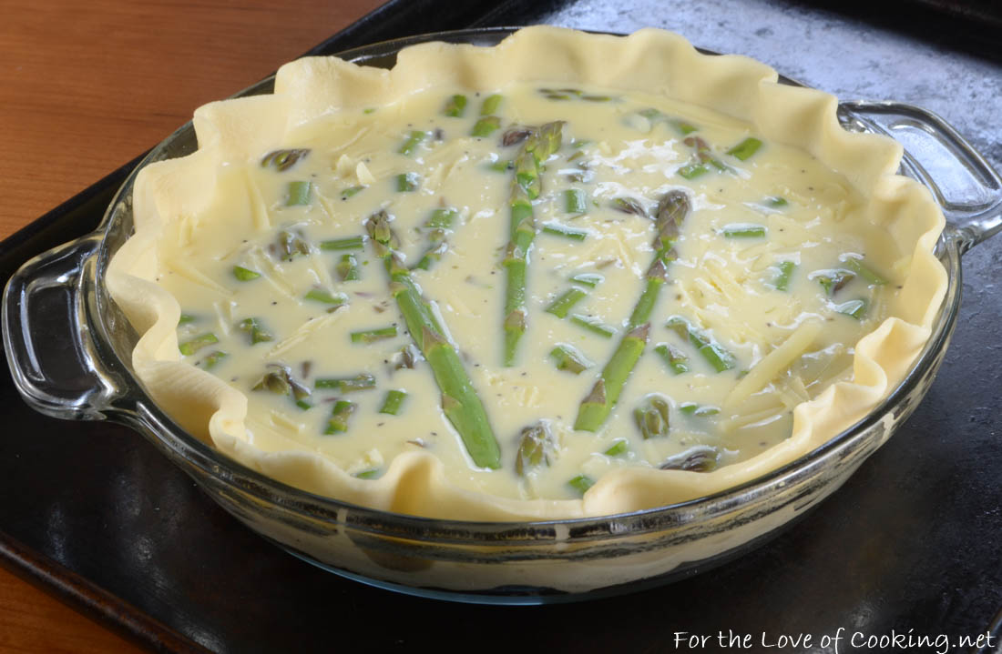 Asparagus and Gruyere Quiche