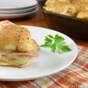 Caramelized Ham & Swiss Sliders