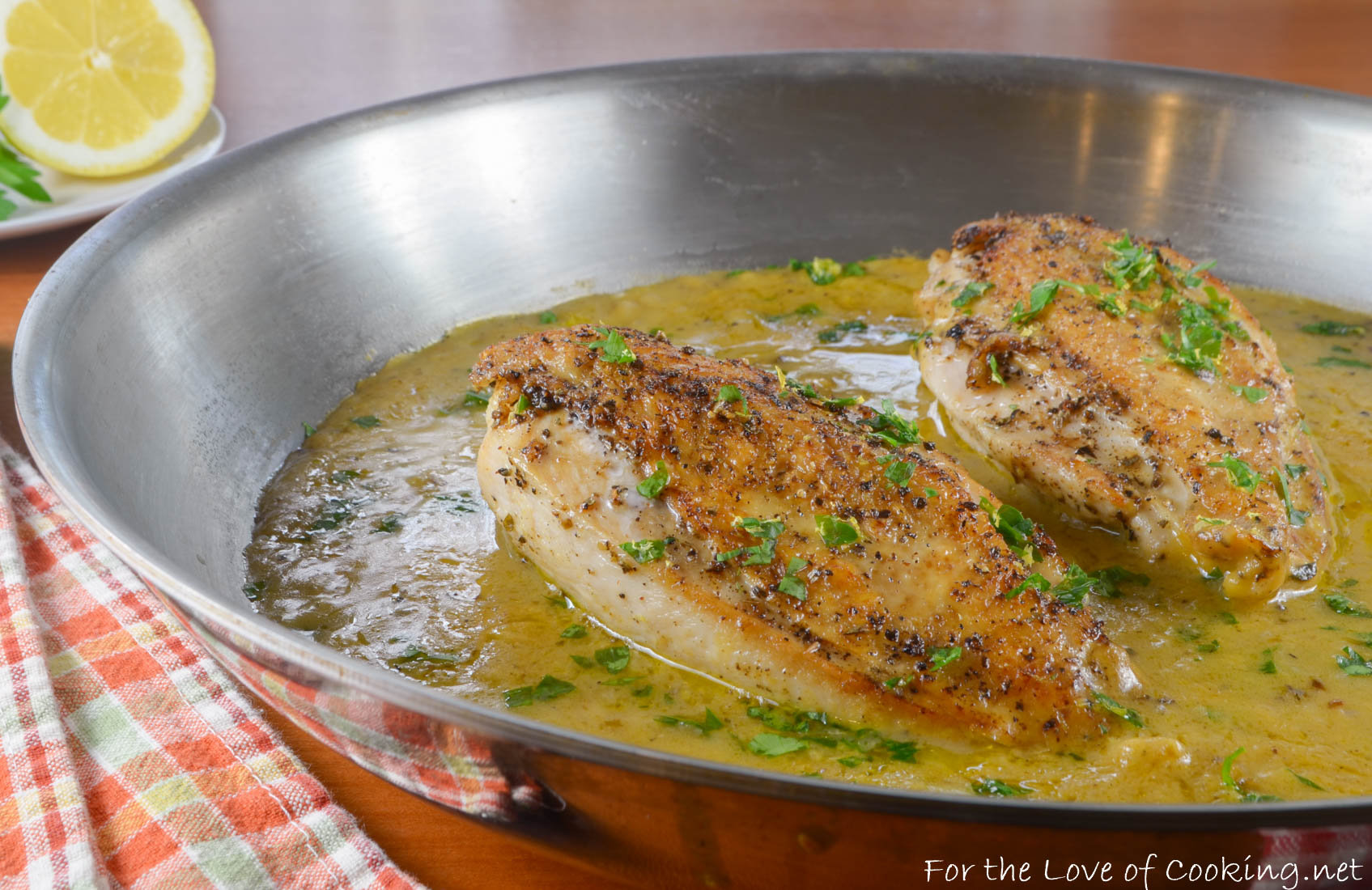 Skillet-Roasted Chicken Breasts in Lemon Sauce