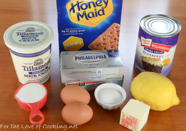 Mini Lemon-Blueberry Cheesecakes