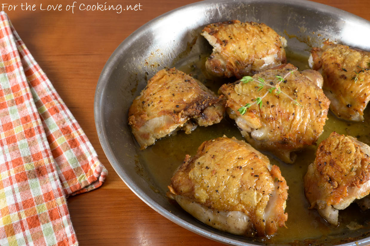 Pan Roasted Chicken Thighs | For the Love of Cooking