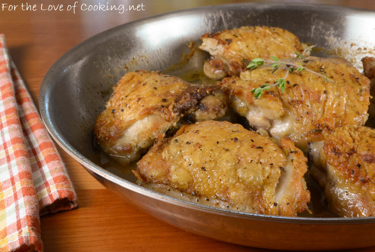 Pan-Fried Chicken Thighs in Mushroom Sauce - Spanglish Spoon |Pan Cooked Chicken
