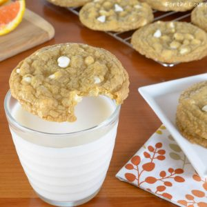 White Chocolate Chip Orange Cookies
