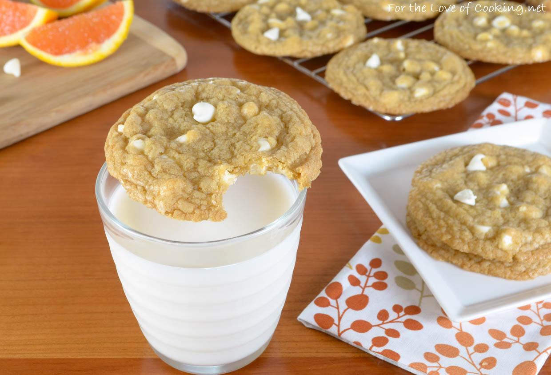 White Chocolate Chip Orange Cookies