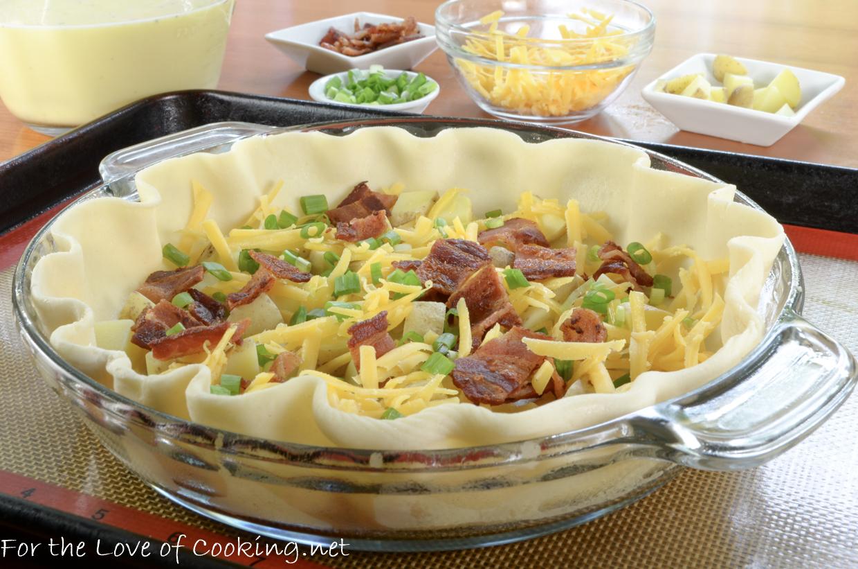 Bacon, Potato, and Sharp Cheddar Quiche