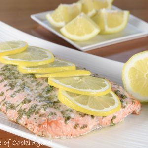 Basil and Lemon Baked Salmon