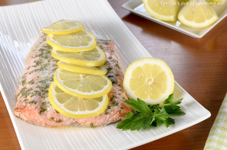 Basil and Lemon Baked Salmon