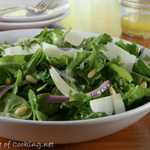 Arugula and Shaved Parmesan Salad with Lemon Vinaigrette