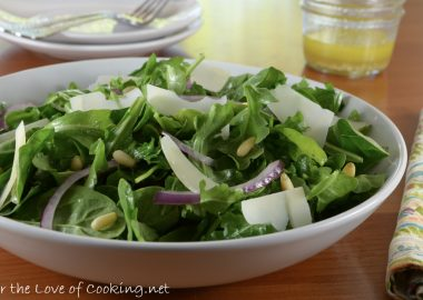 Arugula and Shaved Parmesan Salad with Lemon Vinaigrette