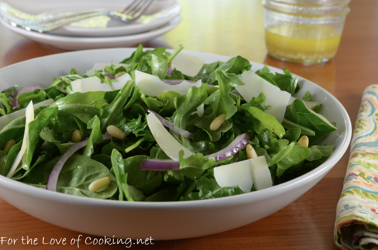 Arugula and Shaved Parmesan Salad with Lemon Vinaigrette ...