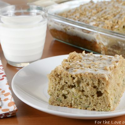 Brown Butter Zucchini Coffee Cake AND Giveaway Winner!!