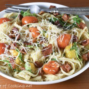 Bacon-Tomato Linguine Carbonara