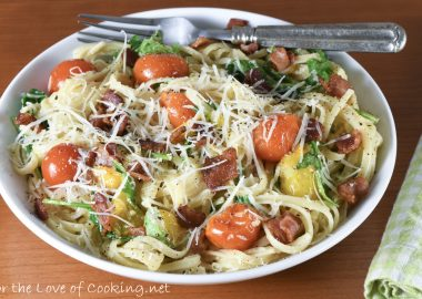 Bacon-Tomato Linguine Carbonara