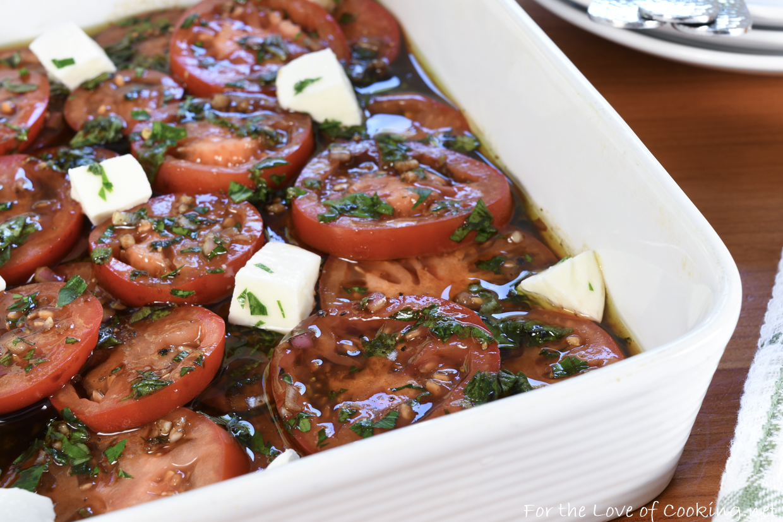 Marinated Tomatoes with Mozzarella