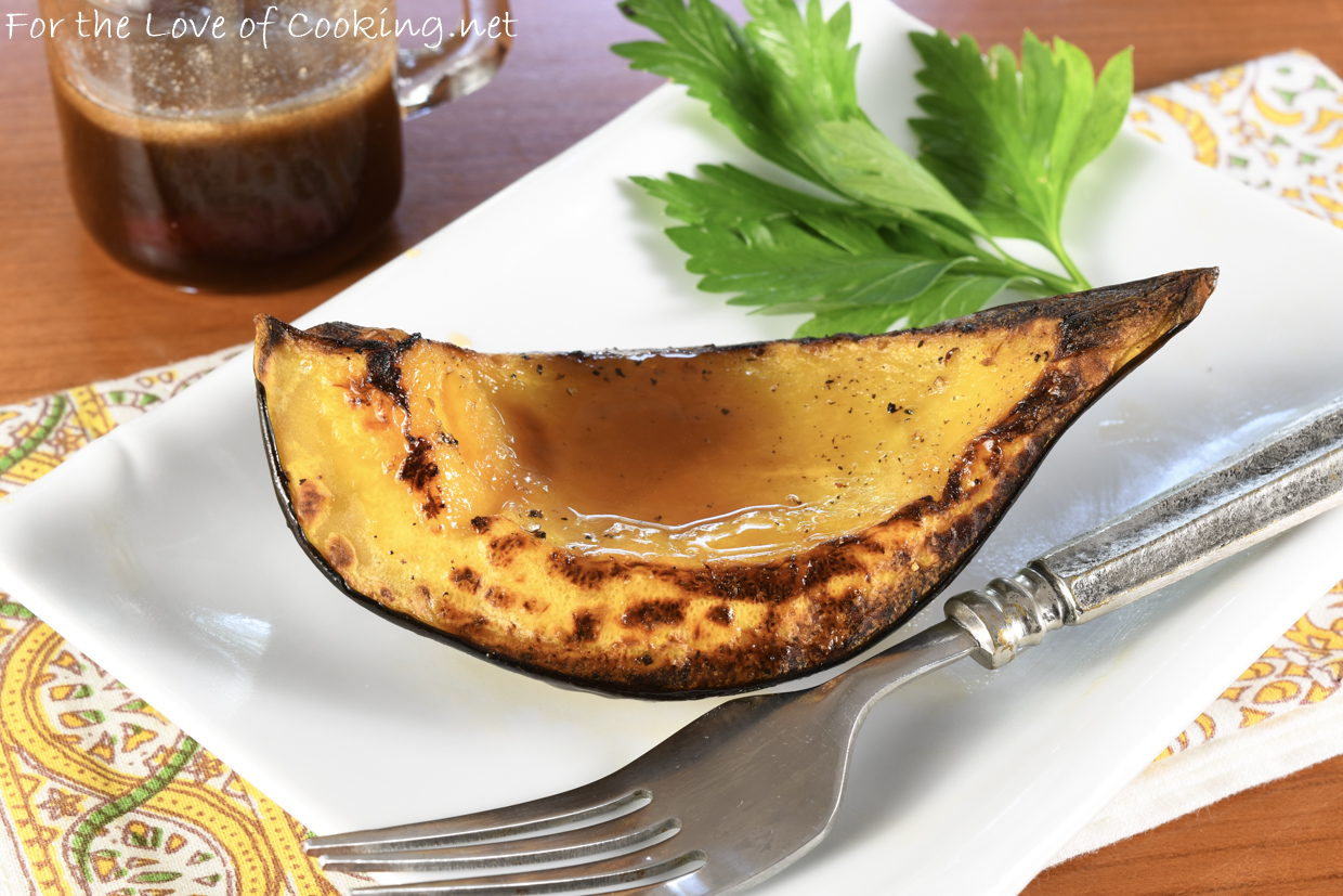 Roasted Acorn Squash with Apple Cider Drizzle